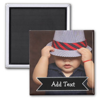 Custom Family  Photo and Name Picture Magnet