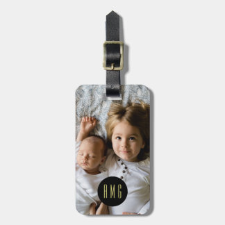 Custom Family Photo | Monogram | Address Luggage Tag