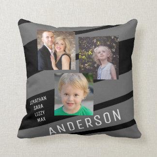 Custom Family Photo Personalized Throw Pillow