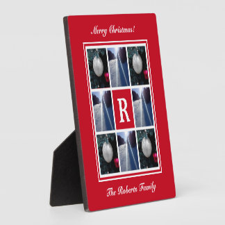 Custom family pictures Christmas photo collage Plaque