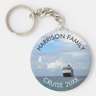 Custom Family Vacation Cruise | Ocean Cruise Ship Keychain
