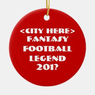 Custom Fantasy Football Ceramic Ornament