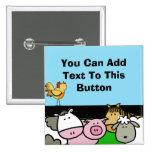 Custom Farm Animals Button