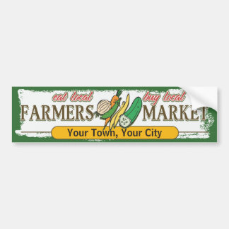 Custom Farmers Market Vegetables Bumper Sticker