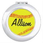 Custom Fastpitch Softball Compact Mirror