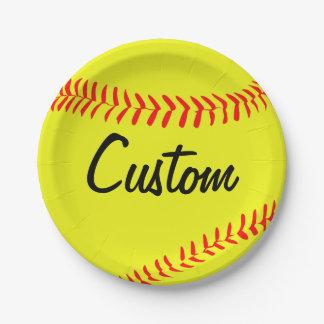Custom Fastpitch Softball Paper Plates