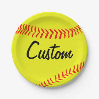 Custom Fastpitch Softball Paper Plates 7 Inch Paper Plate