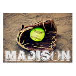 Custom Fastpitch Softball Player Poster