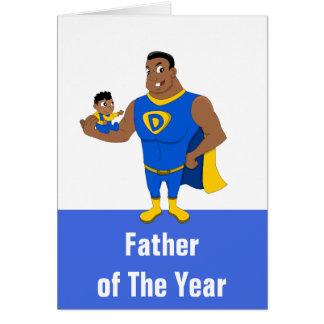 Custom father of the year cartoon card