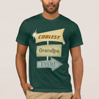 Custom Father's Day Grandpa OR Other Retro T-Shirt