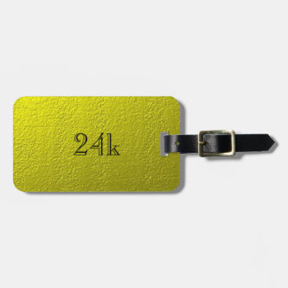 Custom Faux 24k Solid Gold Luggage Tag