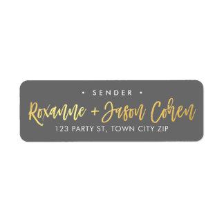 CUSTOM faux gold foil script names grey + gold