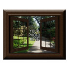 Custom Faux Window Poster Add Your Photo