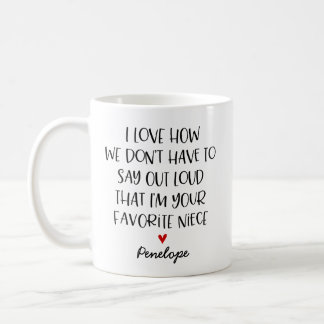 Custom Favorite Niece Coffee Mug