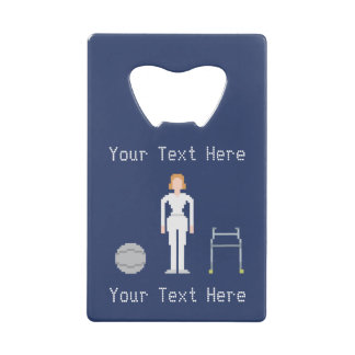 Custom Female Physical Therapy Wallet Bottle Opener
