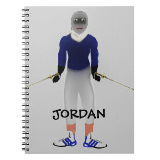 Custom Fencing Cartoon Notebook