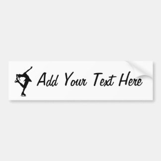 Custom Figure Skater Bumper Sticker