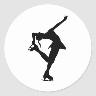 Custom Figure Skater Gifts Classic Round Sticker