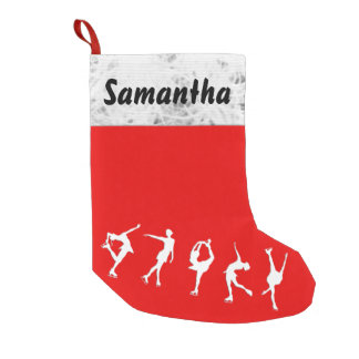 Custom Figure Skater Stocking Small Christmas Stocking