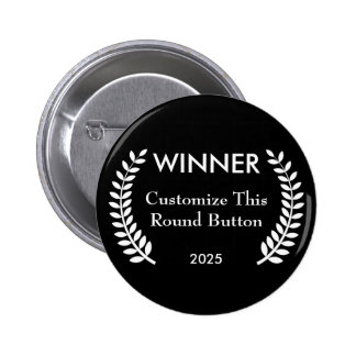 Custom Film Festival Winner Laurels Button Pin