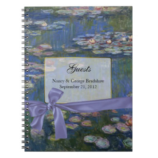 Custom Fine Art Wedding Guest Sign In Notebook