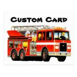 Custom Firetruck Postcard