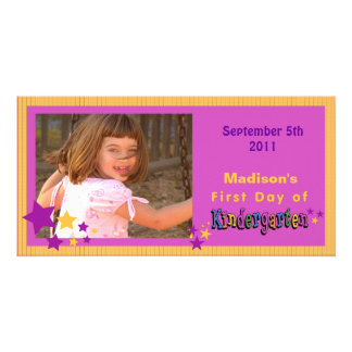 Custom First Day of Kindergarten Personalized Custom Photo Card