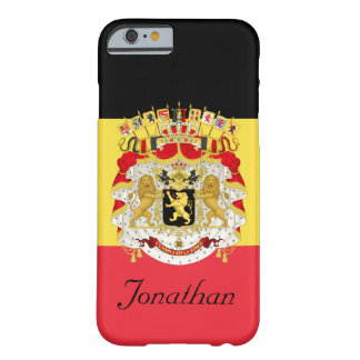 Custom Flag of Belgium Black Yellow Red Barely There iPhone 6 Case