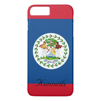 Custom Flag of Belize Red and Blue iPhone 7 Plus Case