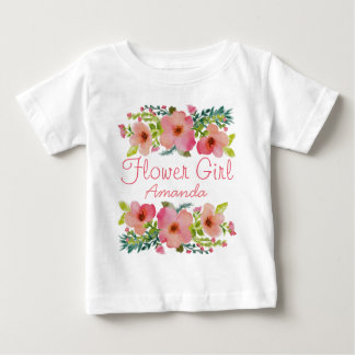 Custom floral baby T-Shirt
