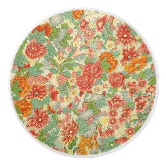 Custom floral ceramic doorknob ceramic knob