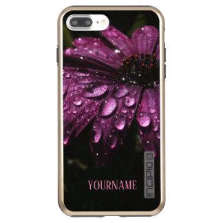 custom floral rain drops art design incipio DualPro shine iPhone 8 plus/7 plus case