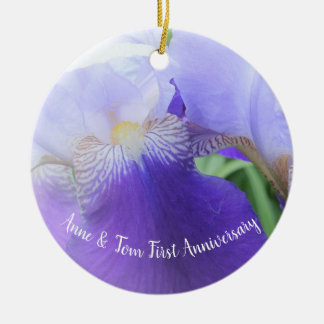 Custom Floral Wedding Anniversary Ornament