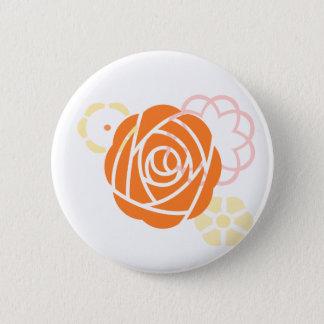Custom Floral Wedding Theme - Orange Yellow 2 Inch Round Button