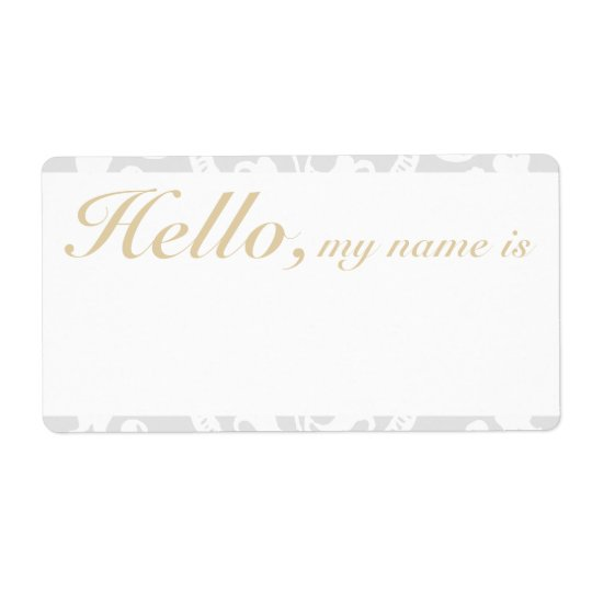 Custom Flourish Border Name Tag