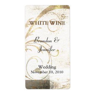 Custom Flourish Wedding Wine Labels