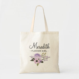 Custom Flower Girl Budget Tote Bag