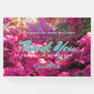 Custom Flowerfall in the Woods Sympathy Thank You Guest Book