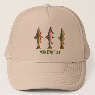 Custom Fly Fishing Ichthyology 3 Trout Trucker Hat