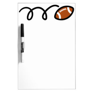 Custom football dry erase board