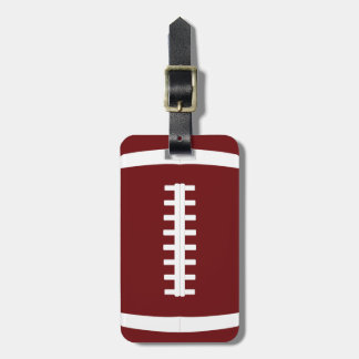 Custom Football Team Color, Name and Player Number Luggage Tag