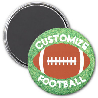 Custom Football Team Name or Text Coach or Player Magnet