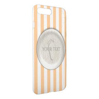 Custom footprint/footprints on sandy beach design iPhone 8 plus/7 plus case