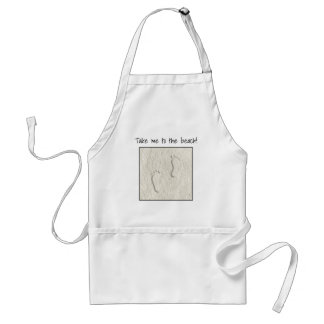 Custom footprint/footprints on sandy beach design standard apron