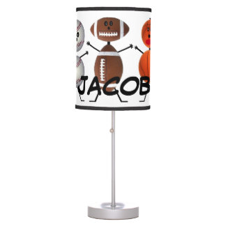 Custom For The Love of Sports Table Lamp