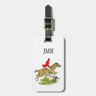 Custom Fox Hunt Jumper Hunter Horseback Riding Luggage Tag