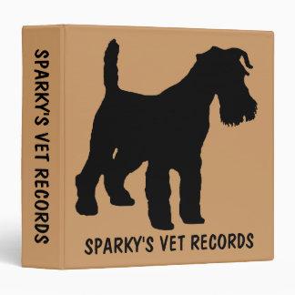 Custom Fox Terrier Dog Vet Records Binder