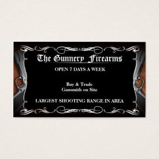 Custom FPistol Firearm Gun Shop Business Cards