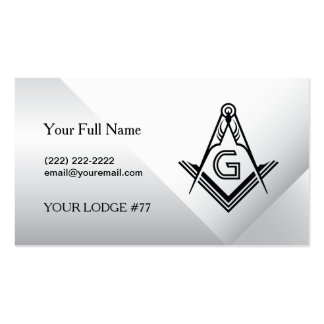 Custom Freemason Business Cards - Masonic Card