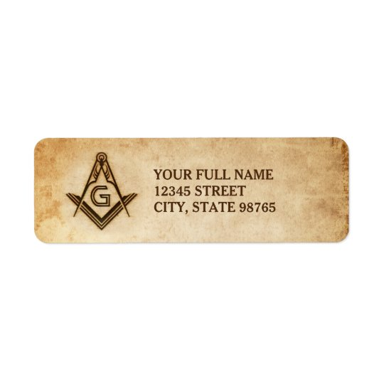 Custom Freemason Return Address Labels | Parchment